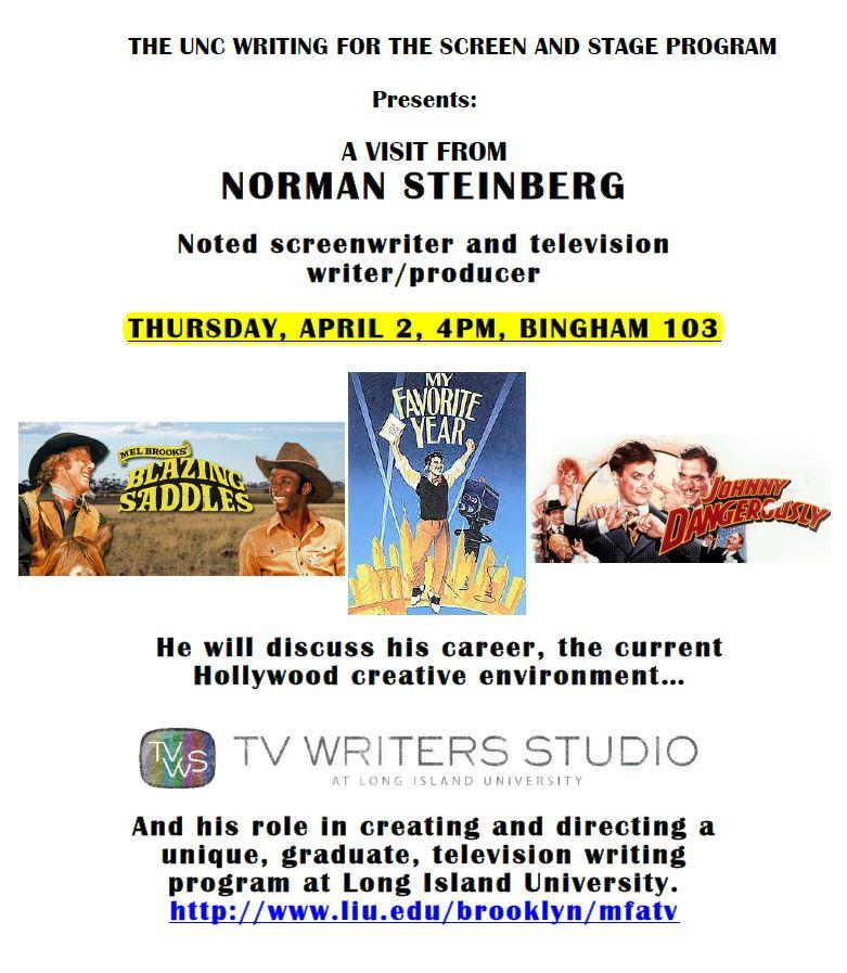 Norman Steinberg visit (UPDATEDflier)