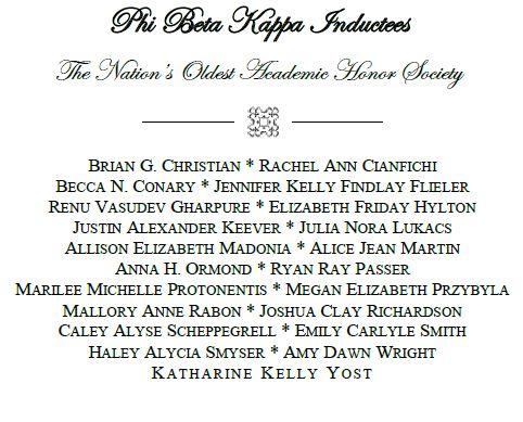Phi Beta Kappa grads (2015)