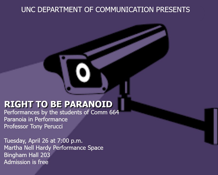 Right to be Paranoid 2016 (COMM 664) POSTER